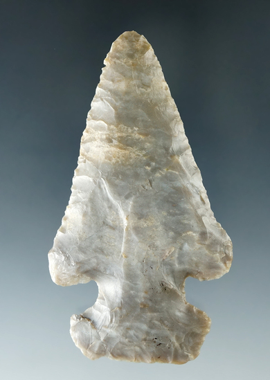 "3 5/16"" Coshocton Flint Archaic Thebes found in Ashland Co. Ohio."