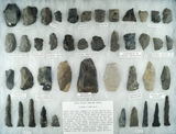 Group of assorted late Paleo tools found in north central Ohio. Largest is 3