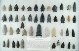 Group of approximately 45 Bifurcate base points found in north central Ohio. Largest is 2 3/8