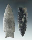 Pair of well made but restored Paleo Stemmed Lanceolates - Sandusky Co. Ohio.