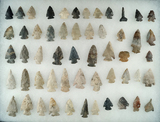 Group of approximately 54 assorted points and tools made from various materials - Ohio.