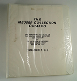 1970 copy of the Meuser collection catalog. This is an excellent reference to Meuser artifacts.