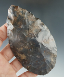 Beautiful multicolored red blue and gray Flint on this 4 1/16