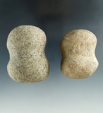 Pair of Hammerstones found in Seneca and Huron Counties, Ohio. Largest is 2 1/4