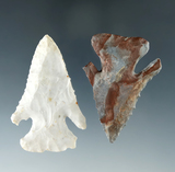 Pair of Archaic Thebes Bevels found in Huron Co. Ohio, largest is 2 5/16