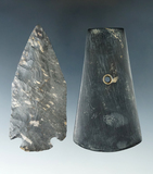 Pair of artifacts including a 3 1/4