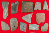 Group of assorted damaged slate found in Ashland and Huron counties, Ohio.