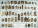 Group of approximately 55 assorted tools made from Pipe Creek Chert found in north central Ohio.