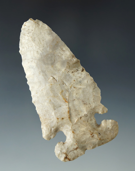 "3 1/8"" Thebes E-Notch with nice mineral deposits on surface, found in Logan Co., Ohio."