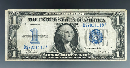 1934 Funny Back Silver Certificate VG