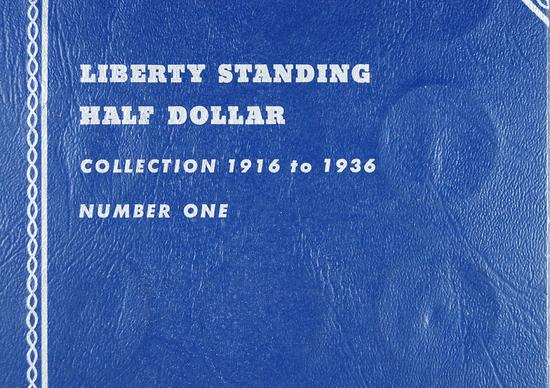 1918-D, 1918-S, 1919-D, 1920-D, 1934-D, 1935-D and 1935-S Walking Liberty Half Dollars in Folder
