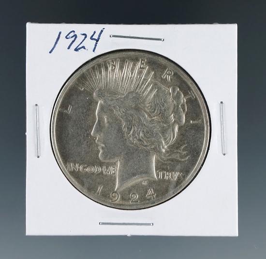 1924 Peace Silver Dollar AU