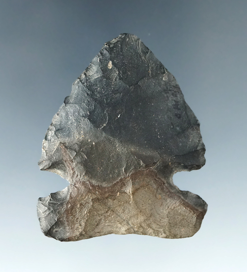 "2"" Archaic Sidenotch made from Nellie Chert with a wide base, found in Coshocton Co., Ohio."