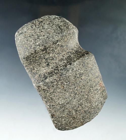 "4 1/2"" long 3/4 grooved granite Axe found in Illinois."