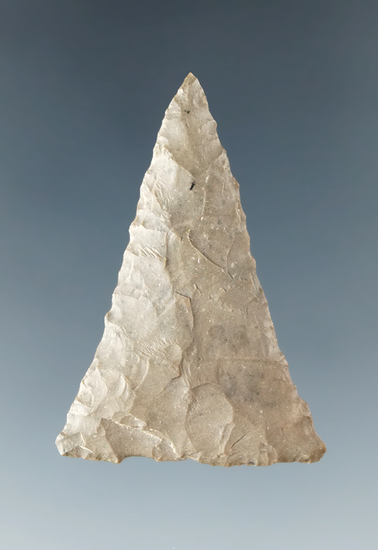 "1 5/8"" Triangle found by Dave Imperi North of Monroville, Huron Co., Ohio. Ex. Jack Hooks."