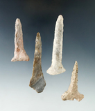 Set of four Drills found in Ashland Co., Ohio near the town of Sullivan. Largest is 2 7/8