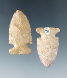 Pair of Knight Island Points found in Bullitt Co., Kentucky, made from Haney Flint.