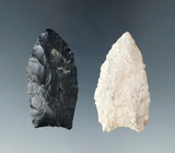 Pair of Paleo points found in Logan Co., Ohio including a Hi-Lo style. Largest is 1 7/8