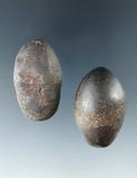 Pair of Hematite Plummets, largest is 1 1/2