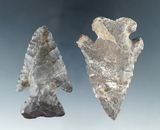 Pair of Archaic Thebes Bevel with minor restoration found in Huron and Erie Co.,'s Ohio.