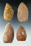 Group of four Blades found in Polk and Alachua Co.,'s, Florida. Includes a 3