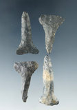 Grou.p of 4 Archaic T-Drills, largest is 1 5/8
