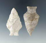 Pair of Ashtabula points found in Wayne and Huron Co., Ohio. Largest is 2 5/16