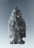 """2 1/8"""" Coshocton Flint Intrusive Mound point that is thin and very well flaked. Found in Ohio."""