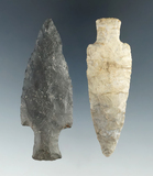 Hard-to-find type! Pair of Archaic Expanded Stem points found in Richland Co., Ohio.