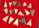 Group of 17 Triangle Points found North of Monroeville, Huron Co., Ohio. Ex. Jack Hooks.