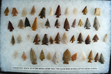 Nice group! Approximately 48 assorted points from the collection of Bob Roth found in Colorado.