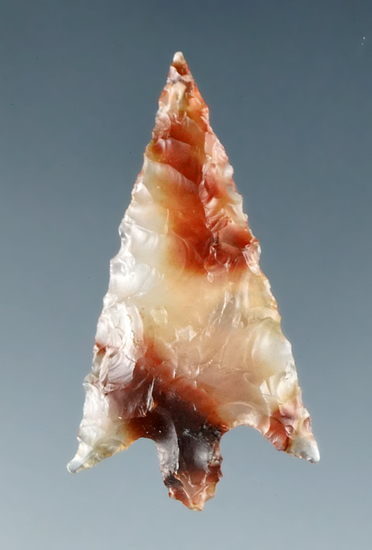 "Beautiful material on this 1 1/8"" translucent agate Gempoint found by Dewey Schmid prior to 1955"