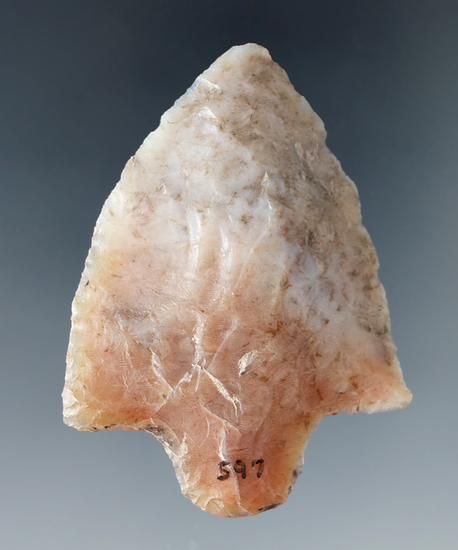 "2 3/16"" Marion made from attractive heat-treated Agatized coral found in Hillsborough Co., Florida."