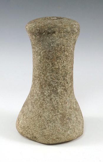 "6"" Hardstone Knobbed Top Bell Pestle found in Preble Co., Ohio."
