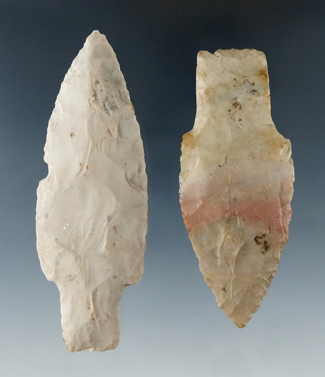 Pair of Adena Points one found in Ohio and one in Indiana, both made from quality material.