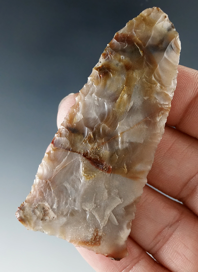 "2 5/8"" Knife made from attractive multicolored agate found in Washington."