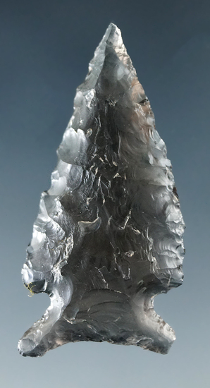 "1 5/8"" Sidenotch dart point made from highly translucent obsidian found in Lake Co., Oregon."