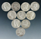 10 Assorted Washington Silver Quarters 1964 or Before VG-AU