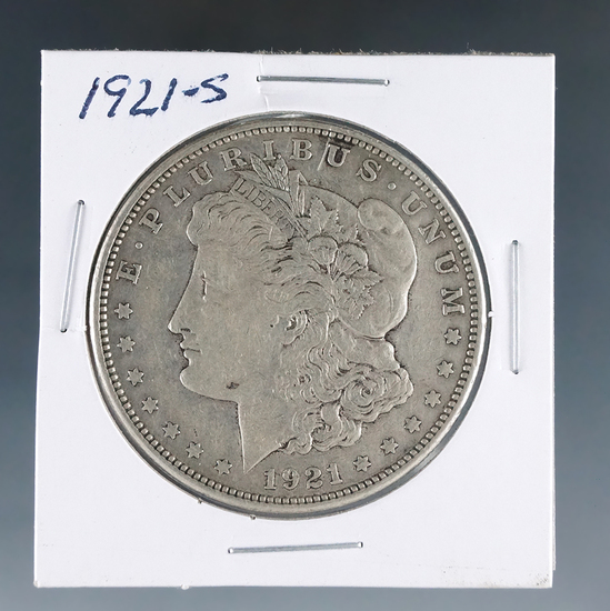 1921-S Morgan Silver Dollar VF