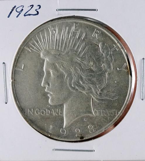1923 Peace Silver Dollar AU