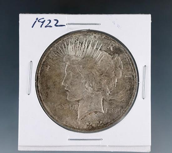 1922 Peace Silver Dollar AU