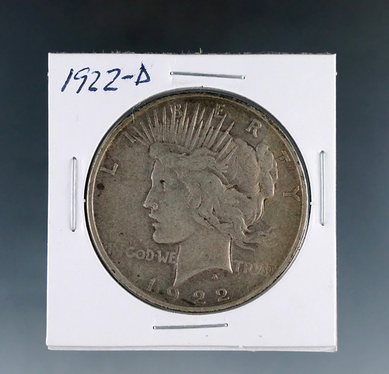 1922-D Peace Silver Dollar VF
