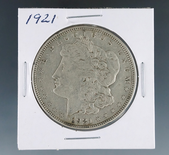 1921 Morgan Silver Dollar VF