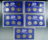 2000, 2003, 2004, 2005 and 2006 State Quarter Proof Sets in Original Boxes