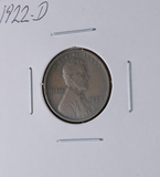 1922-D Lincoln Wheat Cent Better Date F