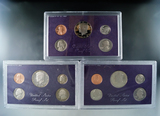 1985, 1986 and 1987 Proof Sets in Original Boxes