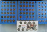1941-1958 Lincoln Wheat Cent Set in Folder 51 Coins and 11 Piece War Nickel Set