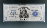 4 Troy Ounce Silver $5.00 Indian Chief Silver Certificate Copy with COA