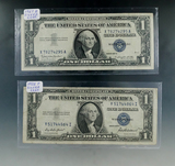 1935 F and 1957 B $1.00 Silver Certificates F-VF