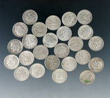 25 Assorted Roosevelt Silver Dimes 1964 or Before F-AU